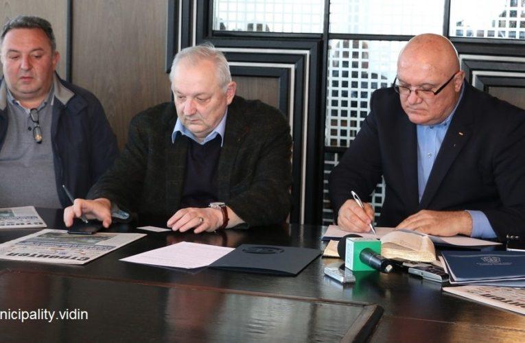 Община Видин подписа с Камарата на строителите