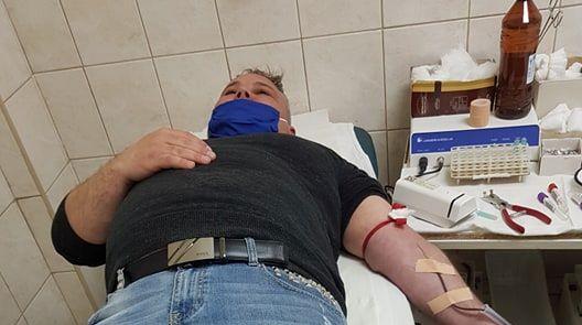 Първи общински съветник дари кръв