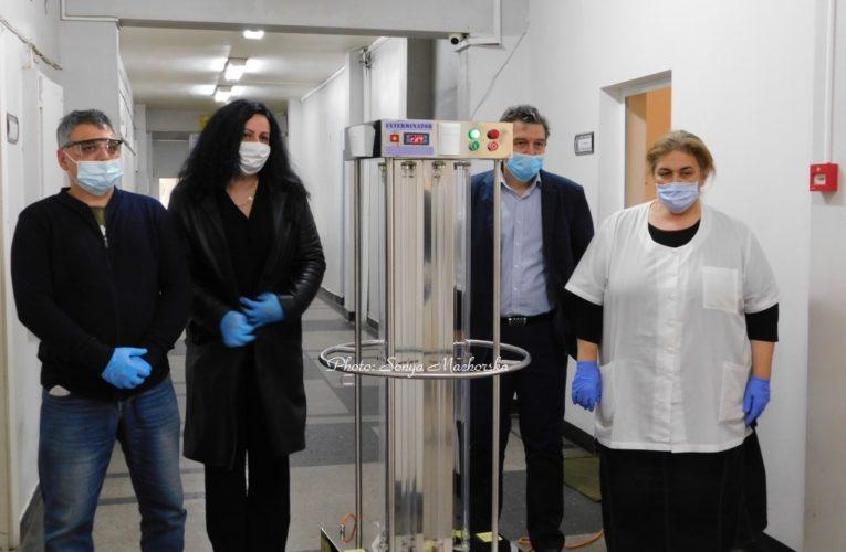С дарени UV-лампи започват дезинфекция на Видинската болница