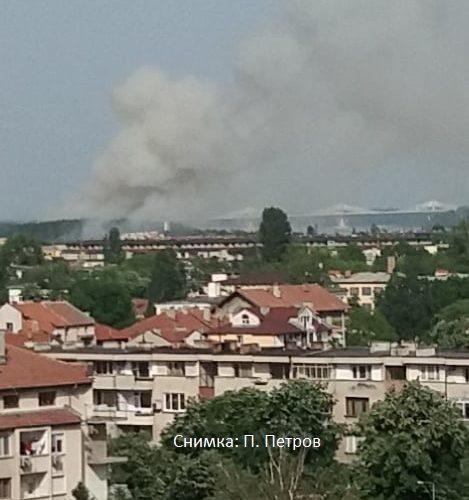 Отново пожар в посока Моста