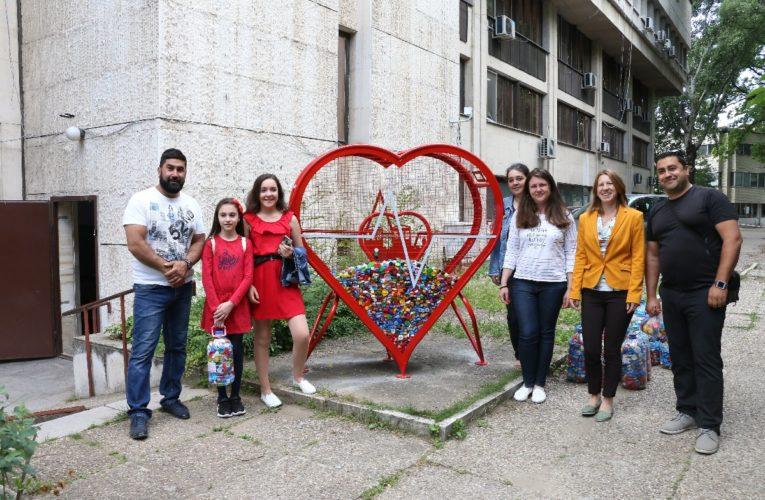 Метално сърце в центъра на Видин