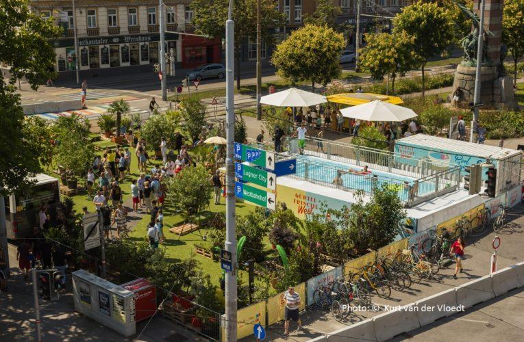 Басейн на кръстовище във Виена