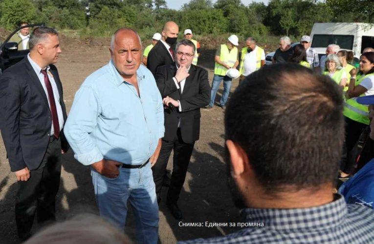 Борисов и Нанков откриха официално строежа на пътя Видин-Ботевград